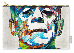 Frankenstein Art - Colorful Monster - By Sharon Cummings Carry-all Pouch by Sharon Cummings