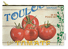 French Veggie Sign 3 Carry-all Pouch by Debbie DeWitt