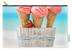 Fruit Ice Cream Carry-all Pouch by Amanda Elwell