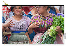 Fruit Sellers In Antigua Guatemala Carry-all Pouch by David Smith