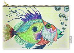 Funky Fish Art - By Sharon Cummings Carry-all Pouch by Sharon Cummings