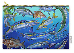 Gamefish Collage In0031 Carry-all Pouch by Carey Chen
