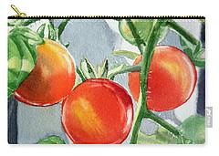 Garden Cherry Tomatoes  Carry-all Pouch by Irina Sztukowski