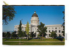 Garden In Front Of Utah State Capitol Carry-all Pouch by Panoramic Images