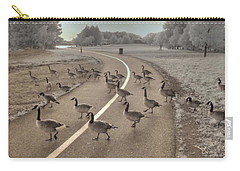 Geese Crossing Carry-all Pouch by Jane Linders