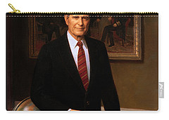 George Hw Bush Presidential Portrait Carry-all Pouch by War Is Hell Store