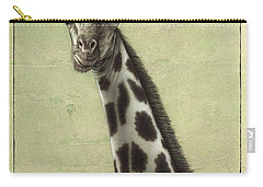 Giraffe Carry-all Pouch by James W Johnson