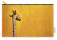 Giraffe Looking Back Carry-all Pouch by Jerome Stumphauzer