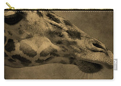 Giraffe Portait Carry-all Pouch by Dan Sproul