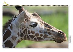 Giraffe Portrait Carry-all Pouch by Dan Sproul