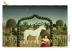 Girl With A Unicorn Carry-all Pouch by Anthony Southcombe