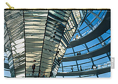 Glass Dome Reichstag Berlin Germany Carry-all Pouch by Panoramic Images