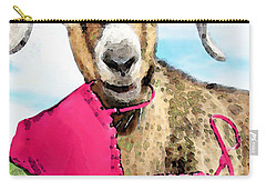 Goat Art - Oh You're Home Carry-all Pouch by Sharon Cummings