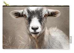 Goat Portrait Carry-all Pouch by Lori Deiter