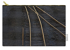 Golden Tracks Carry-all Pouch by Margie Hurwich