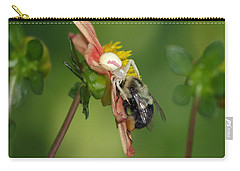 Goldenrod Spider Carry-all Pouch by James Peterson