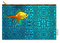 Goldfish Study 3 - Stone Rock'd Art By Sharon Cummings Carry-all Pouch by Sharon Cummings