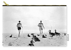 Golf With Gooney Birds Carry-all Pouch by Underwood Archives