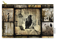Gothic And Crows Carry-all Pouch by Gothicolors Donna
