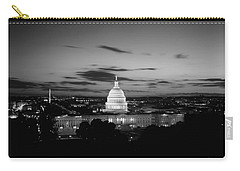 Government Building Lit Up At Night, Us Carry-all Pouch by Panoramic Images