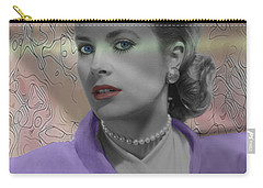 Grace Kelly - Featured In Comfortable Art Group Carry-all Pouch by EricaMaxine  Price