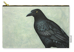 Grackle Carry-all Pouch by James W Johnson