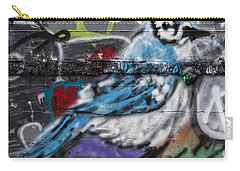 Graffiti Bluejay Carry-all Pouch by Carol Leigh