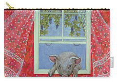 Grapes At The Window Carry-all Pouch by Ditz