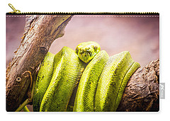 Green Tree Python Carry-all Pouch by Pati Photography