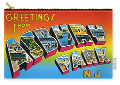 Greetings From Asbury Park Nj Carry-all Pouch by Bill Cannon