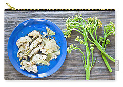 Grilled Artichoke And Brocolli Carry-all Pouch by Tom Gowanlock