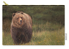 Grizzly Carry-all Pouch by David Stribbling