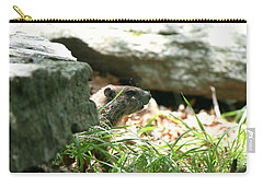 Groundhog Profile  Carry-all Pouch by Neal  Eslinger