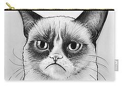 Grumpy Cat Portrait Carry-all Pouch by Olga Shvartsur