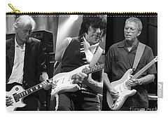 Guitar Legends Jimmy Page Jeff Beck And Eric Clapton Carry-all Pouch by Marvin Blaine
