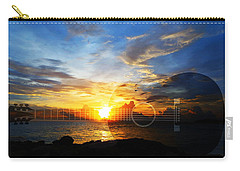 Guitar Sunset - Guitars By Sharon Cummings Carry-all Pouch by Sharon Cummings
