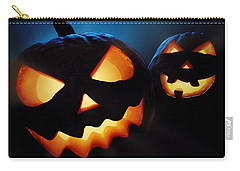 Halloween Pumpkins Closeup -  Jack O'lantern Carry-all Pouch by Johan Swanepoel