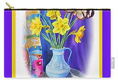 Happy Easter Daffodils Carry-all Pouch by Irina Sztukowski