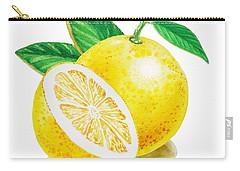 Happy Grapefruit- Irina Sztukowski Carry-all Pouch by Irina Sztukowski