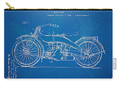 Harley-davidson Motorcycle 1924 Patent Artwork Carry-all Pouch by Nikki Marie Smith