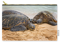 Hawaiian Green Sea Turtles 1 - Oahu Hawaii Carry-all Pouch by Brian Harig