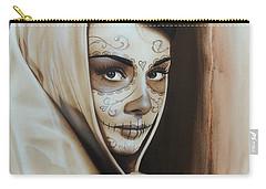 Audrey Hepburn - ' Hepburn De Los Muertos ' Carry-all Pouch by Christian Chapman Art