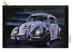 Herbie The Love Bug Painting Carry-all Pouch by Paul Meijering