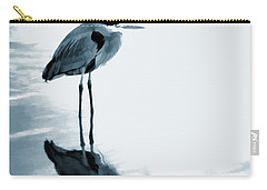 Heron In The Shallows Carry-all Pouch by Carol Leigh