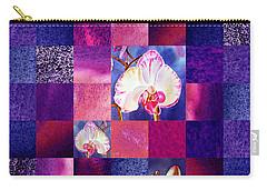Hidden Orchids Squared Abstract Design Carry-all Pouch by Irina Sztukowski