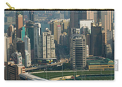 High Angle View Of A Horseracing Track Carry-all Pouch by Panoramic Images