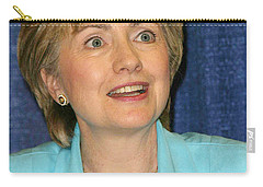 Hillary Clinton Carry-all Pouch by Nina Prommer