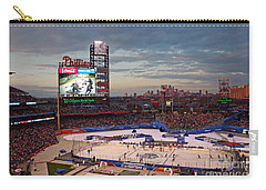 Hockey At The Ballpark Carry-all Pouch by David Rucker