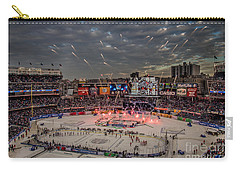Hockey At Yankee Stadium Carry-all Pouch by David Rucker