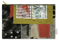 Hong Kong Postage Collage Carry-all Pouch by Carol Leigh